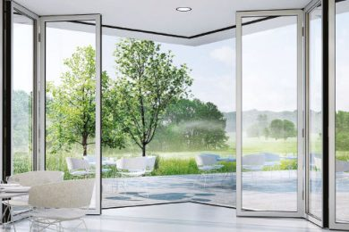 SLIDING GLASS WALLS